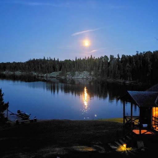 Moon over Ellis' Bay